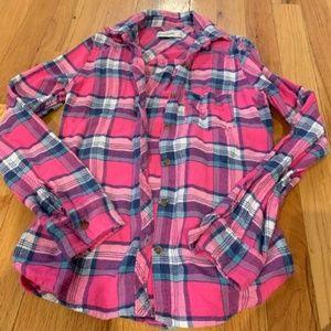 Abercrombie Kids girls flannel shirt size s